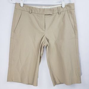 Theory Tan Bermuda Shorts Size 4